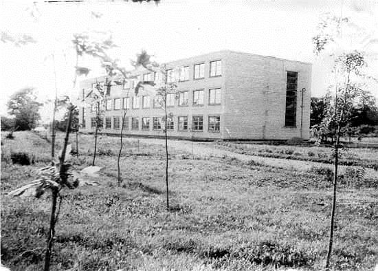 Mosėdžio vidurinė mokykla, pastatyta 1966 m.
